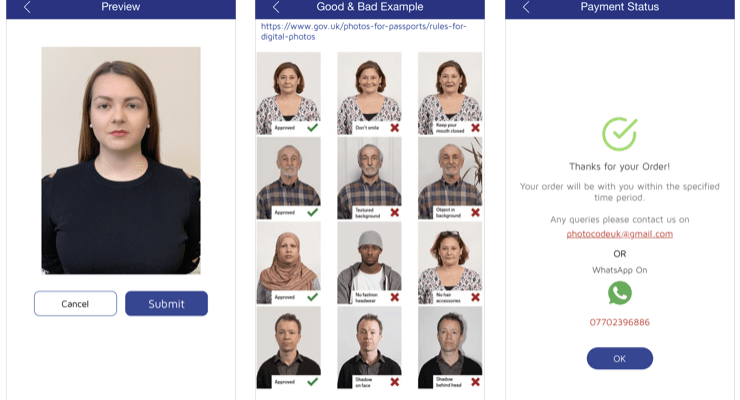 Acceptable Passport Photos UK